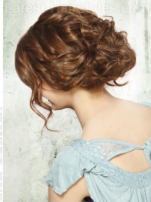 Loose Tousled Pinned Up Style with Waves - Wispy Pieces