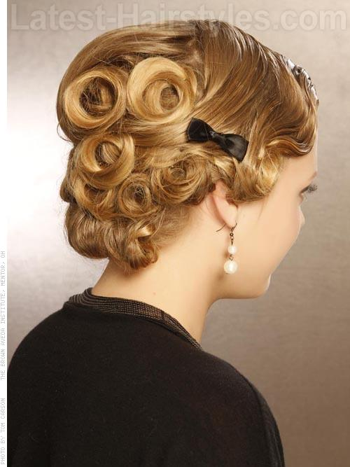 Pincurl Deluxe Updos For Long Hair Back View