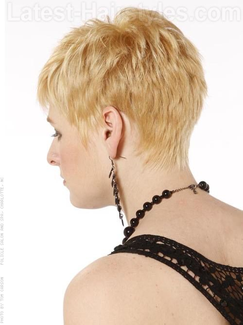 Gallery For > Short Pixie Cuts Back