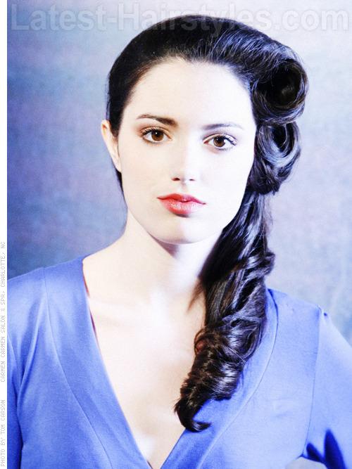 Raven Swirl Style Easy Hairstyles for Longer Hair