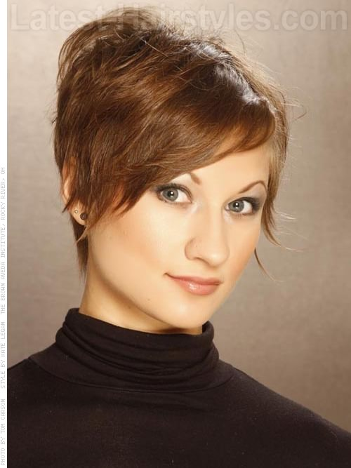 Razored Edge Pixie Haircut Sculpted Hair Front View