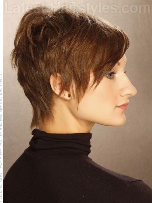 Long Pixie Cut with Short Bangs
