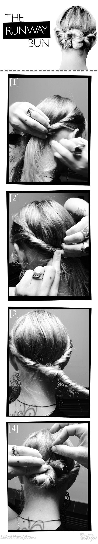 runway bun hair tutorial