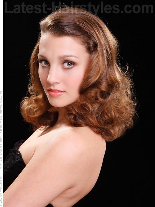 Easy Screen Siren Glamorous Retro Style Cascading Curls Side View