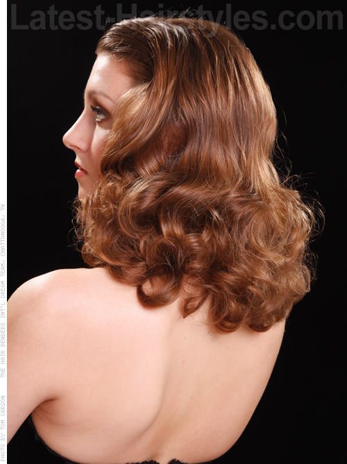 Easy Screen Siren Glamorous Retro Style Cascading Curls