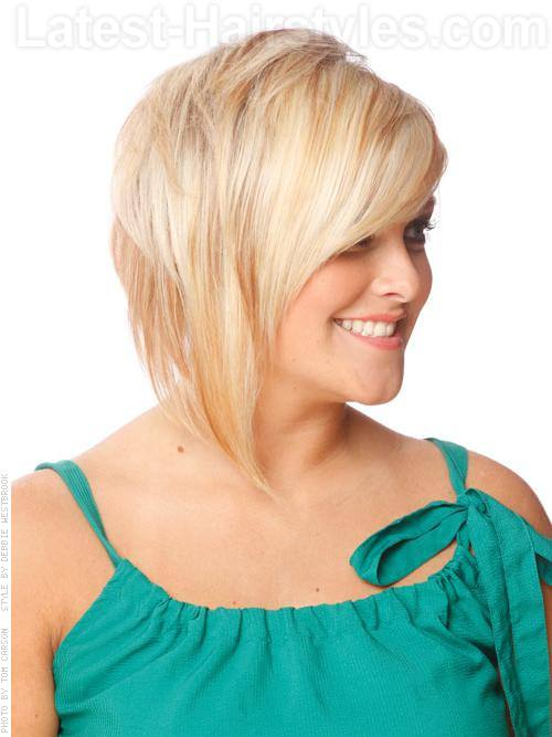 Textured Asymmetry Short Cut Choppy Style Side View