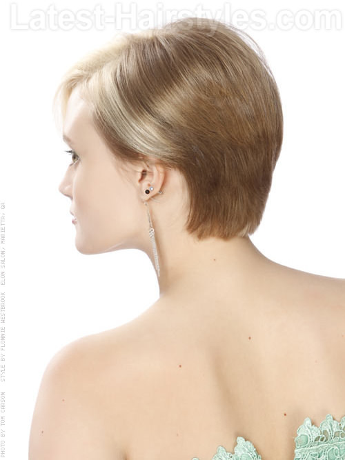 Asymmetrical Short Hairstyle Side View