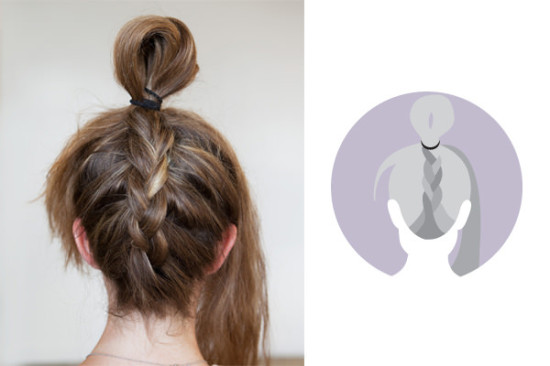 how to do an upside down French braid