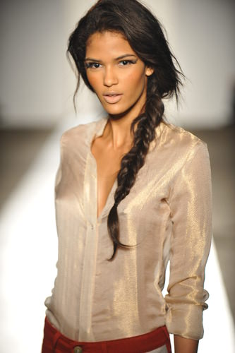 Long Heringbone Braid Hairstyle