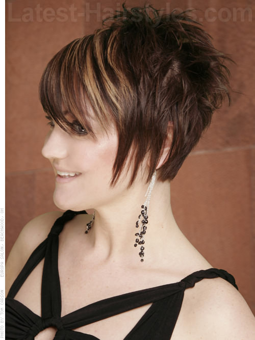 Playful Face Framing Short Hairstyles Side View
