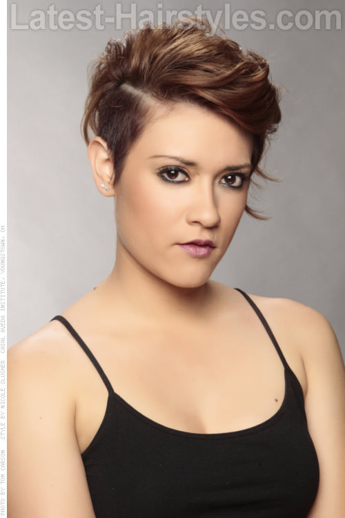 Undercut Hairstyle Women Short undercut hairstyle side