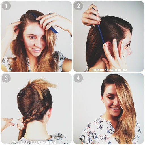braided deep side part hair tutorial