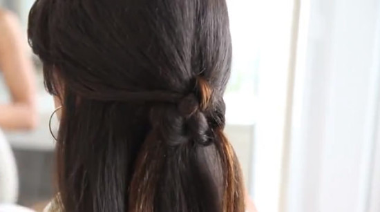 knotted half up half down hairstyles