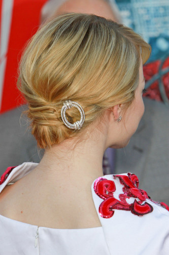 bun hairstyle with accessory