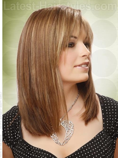 layered medium length hairstyle 2