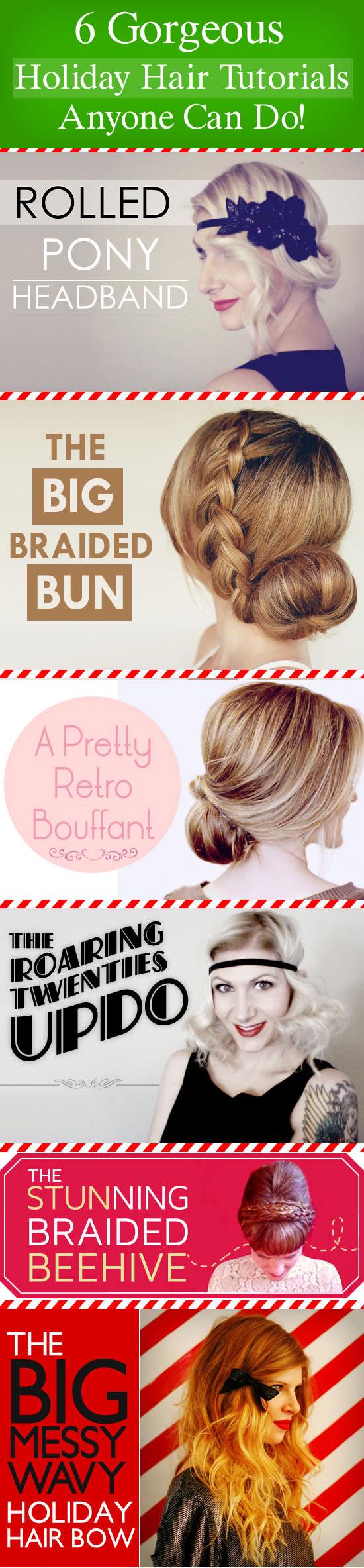 holiday hair tutorials