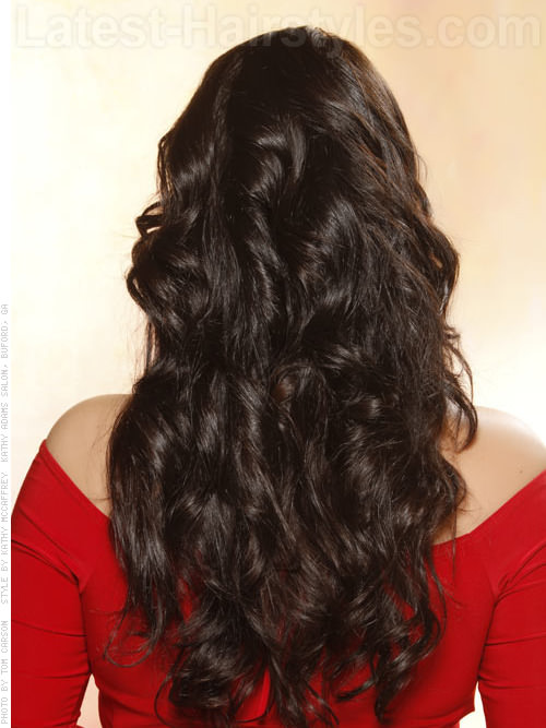 hot chocolate full glossy long brunette back view 20 Winter Hair Colors We Absolutely Really like hairstyles
