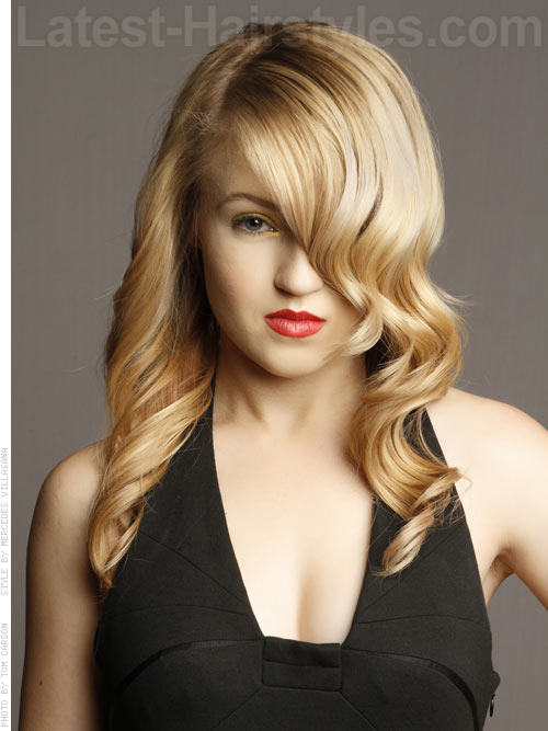 Modern Glamour Hollywood Hairstyle For Long Faces