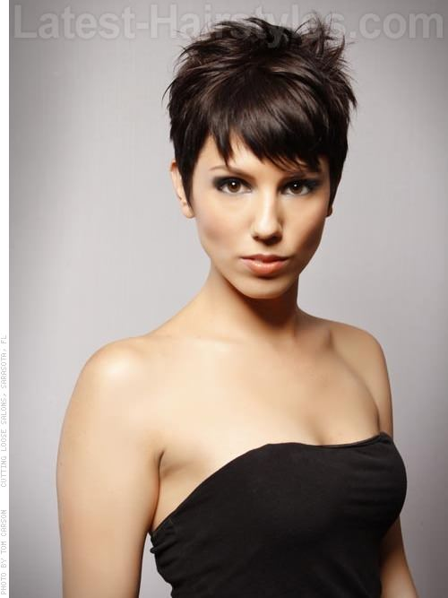 Perfect Pixie Fun Piecey Brunette Long Face Style