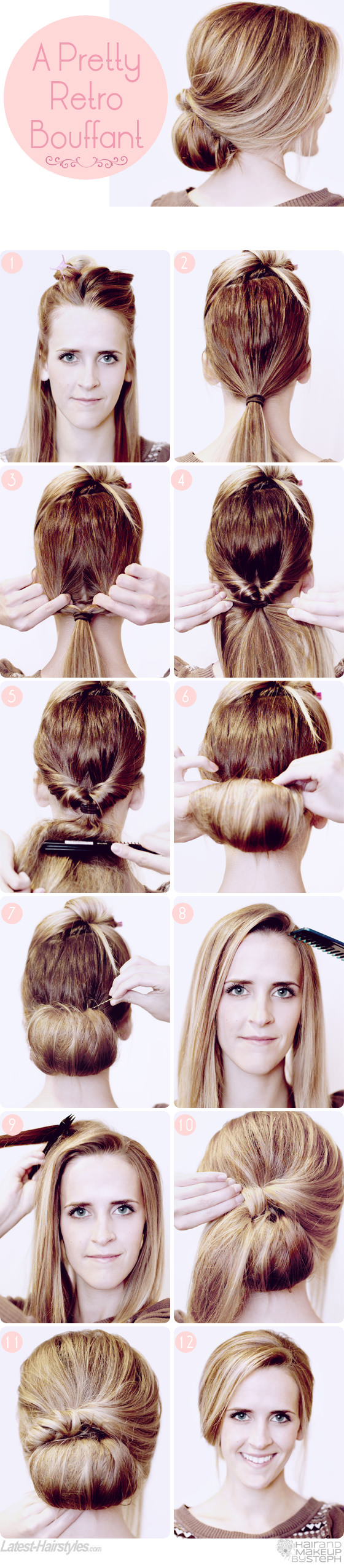 retro bouffant hair tutorial