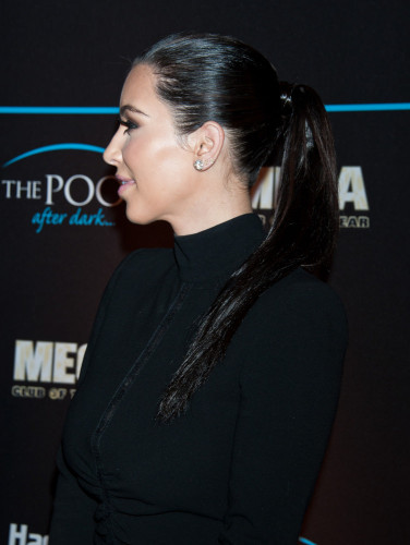 sleek ponytail for new year's