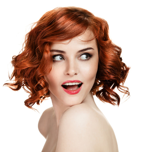 Totally Twisted Red Medium Hairstyle For Winter