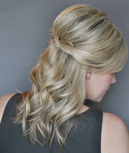 twisted half-up half-down hairstyles