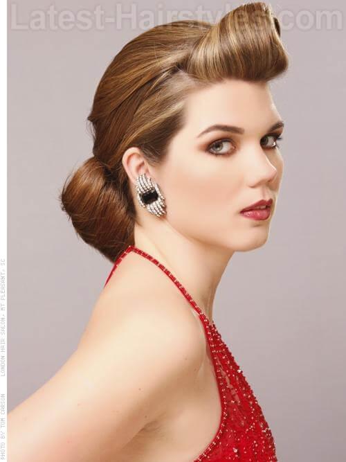 Old Hollywood Chignon Beautiful Glamorous Prom Style