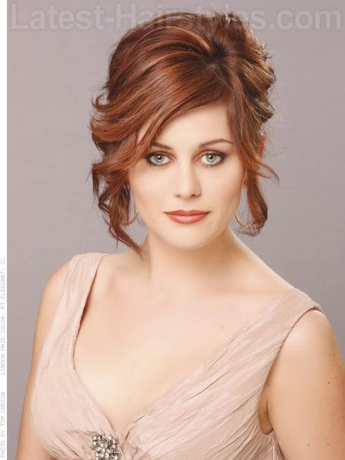 Romantic Prom Updo For Medium Length Hair