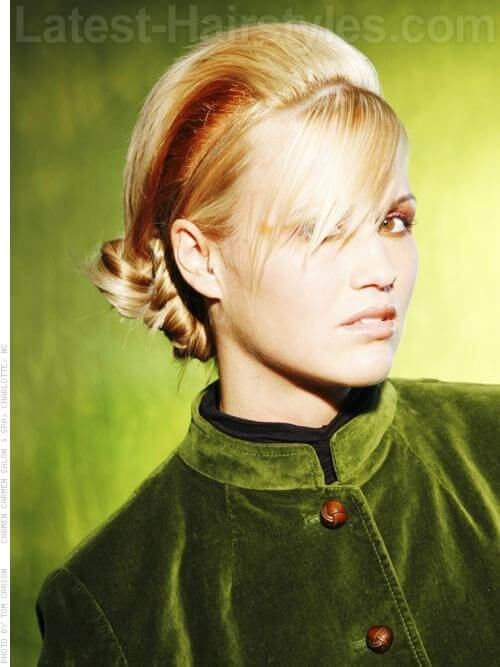 Updated Mod Low Sleek and Smooth Prom Chignon Hairstyles