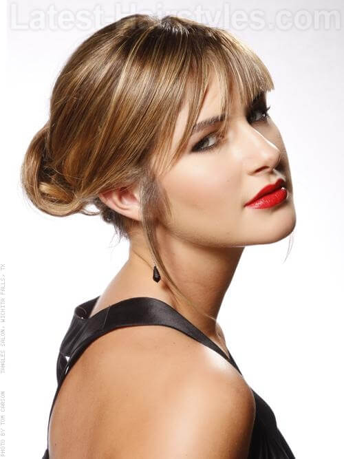 Retro Chignon Prom Hairstyles For Long Hair