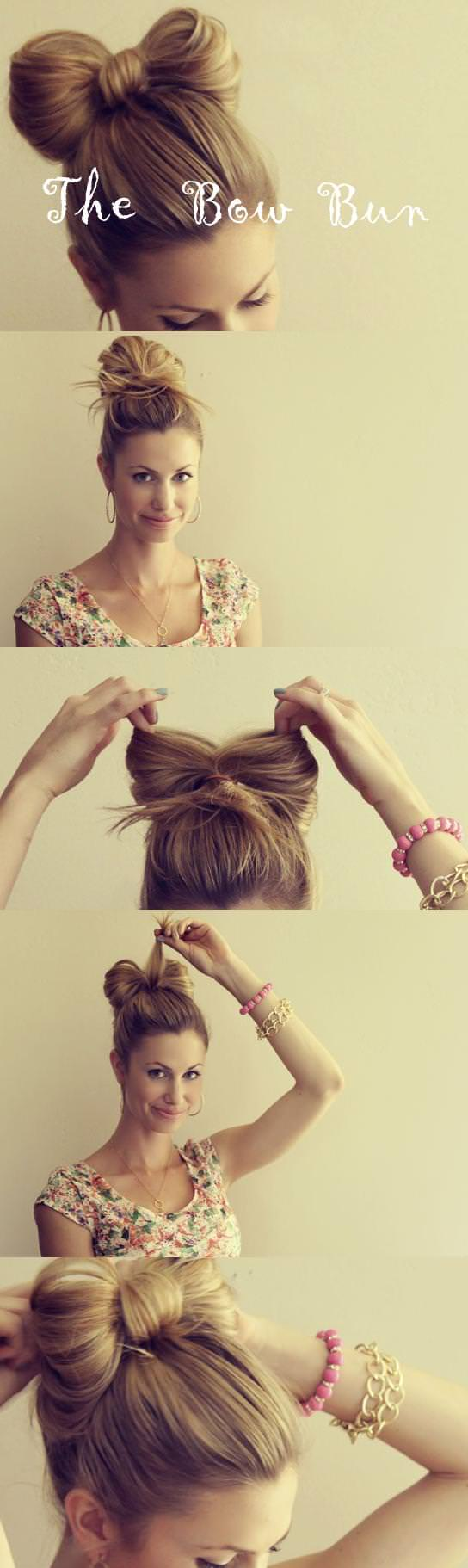 bow hairstyles how to