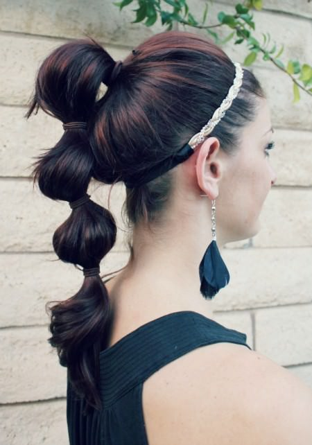 triple ponytail
