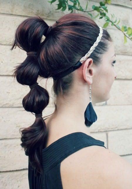 triple ponytail