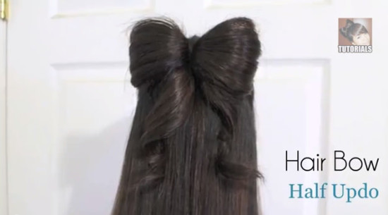 hair bow with ribbons