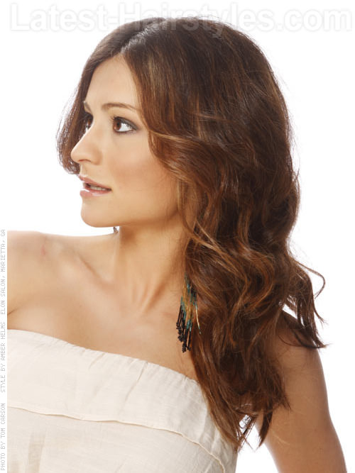 Bohemian Hairstyles For Round Faces - Side View