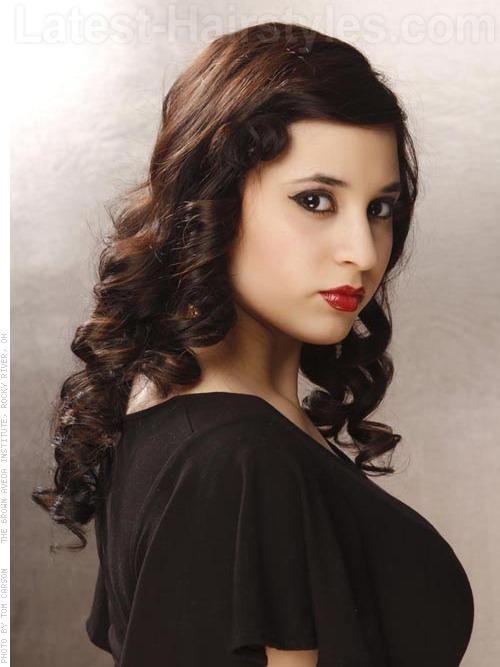 Dita Von Teese Celebrity Hairstyles - Side View