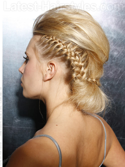 Gwen Stefani Inspired Creative Hairstyle with Side Braids - Back View