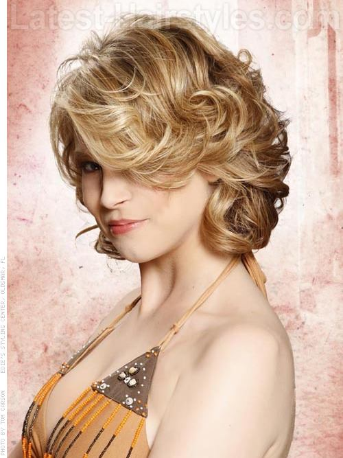 Hot Rollers Easy Prom Hairstyle Side View
