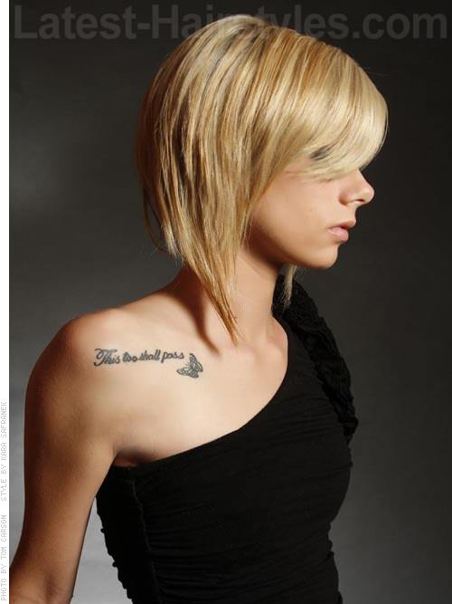 A Line Bob with Side Bangs