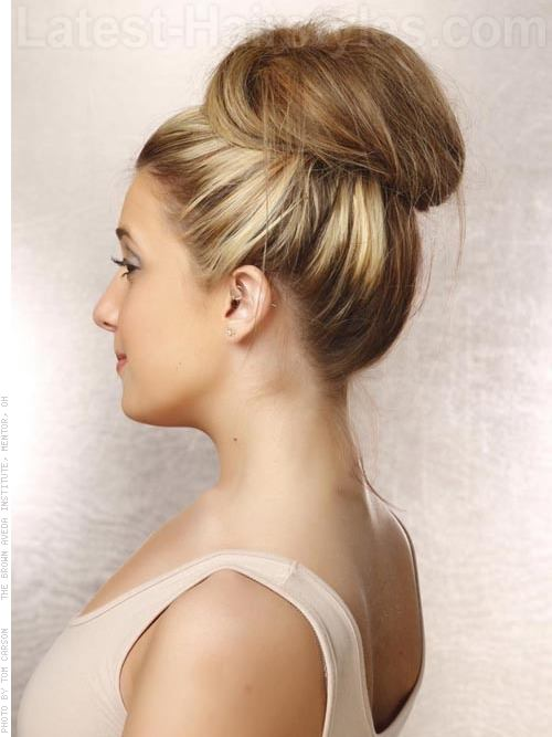 Easy Prom Sock Bun - Side View