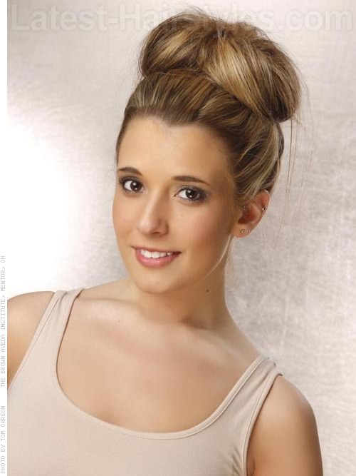 Easy Prom Sock Bun Hairstyle