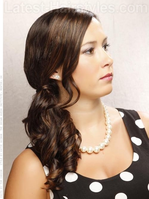 The Sweet and Sleek Easy Prom Hairstyle Side View