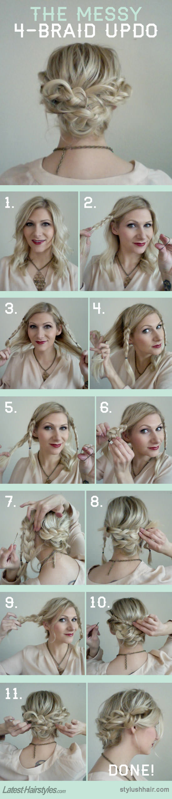 4 braid updo