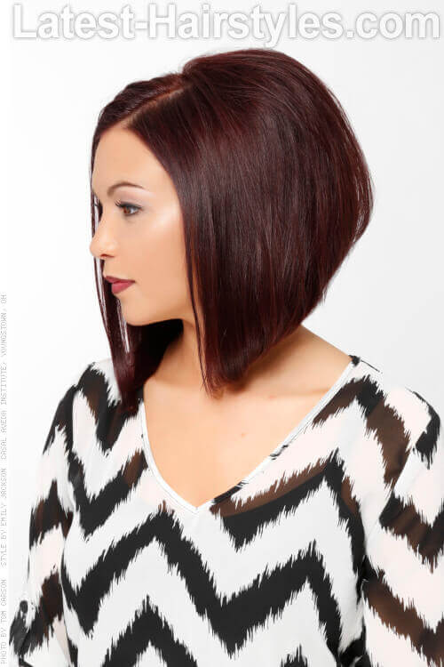ALine Hairstyle with Rich Color Side View