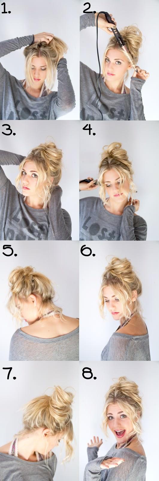 messy buns updo tutorial