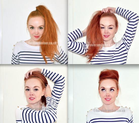 messy buns top knot tutorial