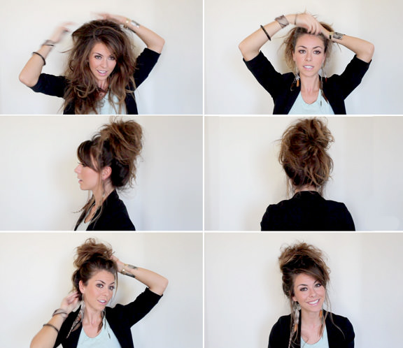 How to Do Messy Bun for Long Hair