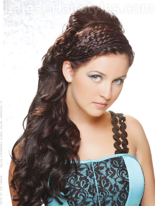 Braided Juliette Intricate Style for Long Hair with Lots of Intricate Braids - Side View
