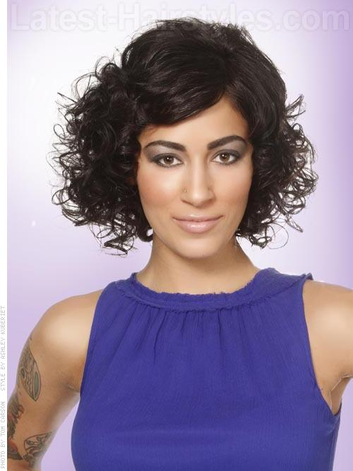 Classically Edgy Curly Bob Classic Look with a New Twist
